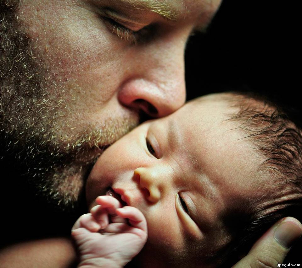 Красивое фото папы с ребенком